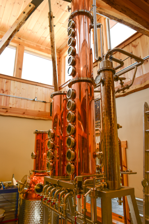 A still at Northern Latitudes Distillery's tasting room.